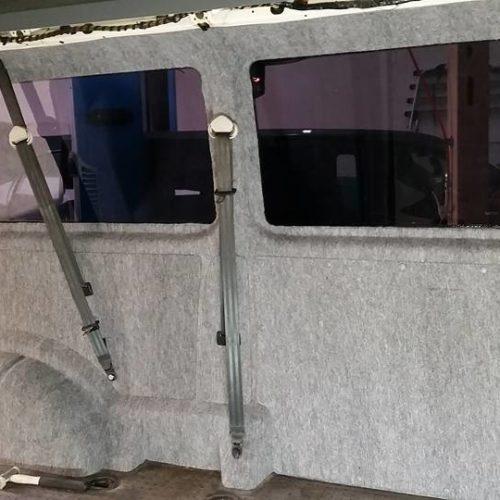 b4f-carpet-Filz steingrau gemasert für Innenverkleidung