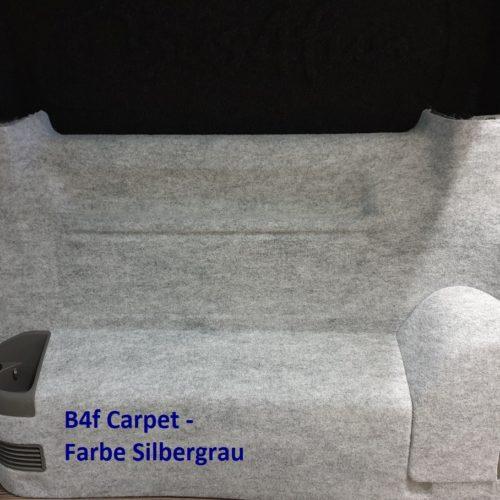 Filz für Van Ausbau: b4f-carpet-Filz silbergrau gemasert für Innenverkleidung