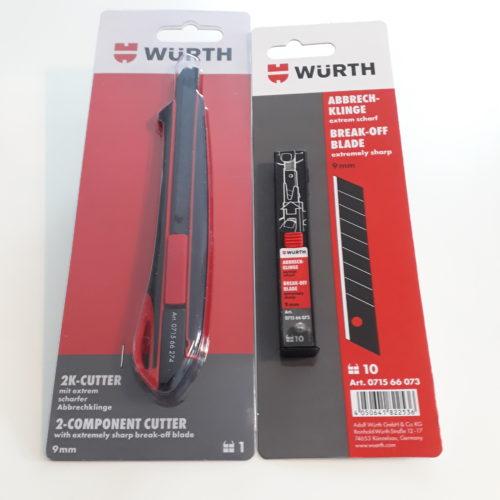 Cutter-Messer 9mm mit Ersatzklingen