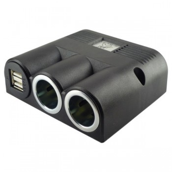 Aufbausteckdose 12-24V mit Power USB Doppelsteckdose